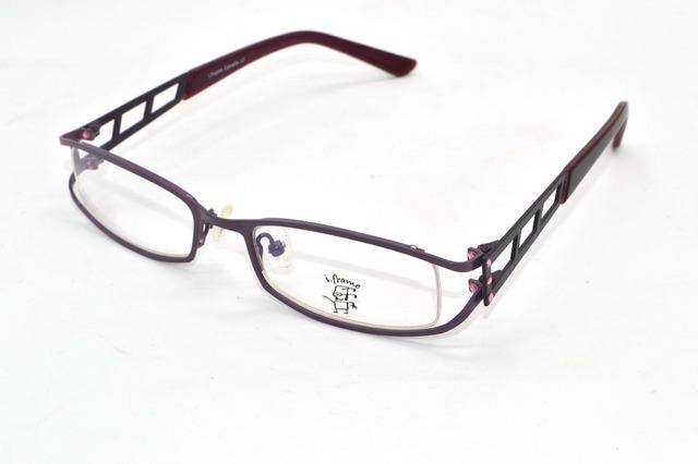 Dame Oco estrutura do Diamante Decoração eyewear Óptica Custom Made Prescrição Photochromic óculos de miopia-1.0 a-6.0