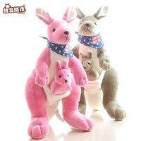 RYRY 12.6 Pollice Morbido Peluche In Australia Canguro Che Porta Un Bambino Farcito Animali di Peluche Kangaroo Mother & Son Kids Collezione giocattoli