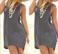 Boho Sleeveless Mini Backless Kleid Cocktail Sommer Strand Größe F0008