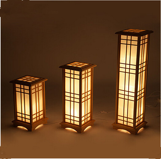 Amazing Japanese Tatami Floor Lamp Bedside Lamp Vertical Wooden Bedroom Study  Chinese Table Lamps.