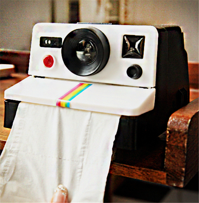 Creative Retro Polaroid Camera Shape Inspired Tissue Boxes/ Toilet Roll Paper Holder Box Bathroom Accessories
