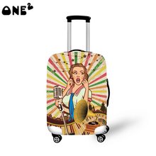 ONE2 sexy pattern new design travel luggage cover good quality 22,24,26 inch production in China protective cover luggage
