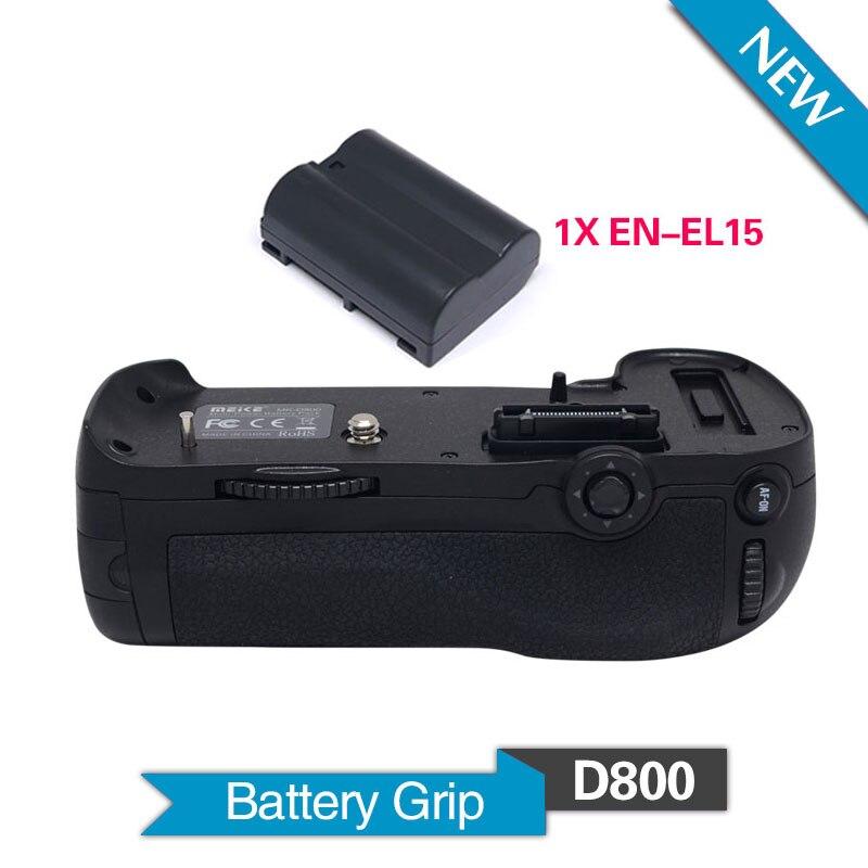 MeiKe MK-D800 Verticale Battery Grip Holder con 1 pz Batteria EN-EL15 per Nikon Fotocamera DSLR D800 D800E come MB-D12MeiKe MK-D800 Verticale Battery Grip Holder con 1 pz Batteria EN-EL15 per Nikon Fotocamera DSLR D800 D800E come MB-D12