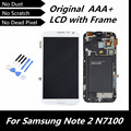 100% Tested Good Original LCD for Galaxy Note2 GT-N7100 White Color LCD + Touch Screen Digitizer with Assembly Frame
