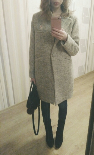 Шерстяное пальто с Алиэкспресс