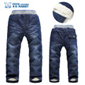 High quality Brand KK-RABBIT Winter Thick Boys Pants Kids Baby Children Jeans