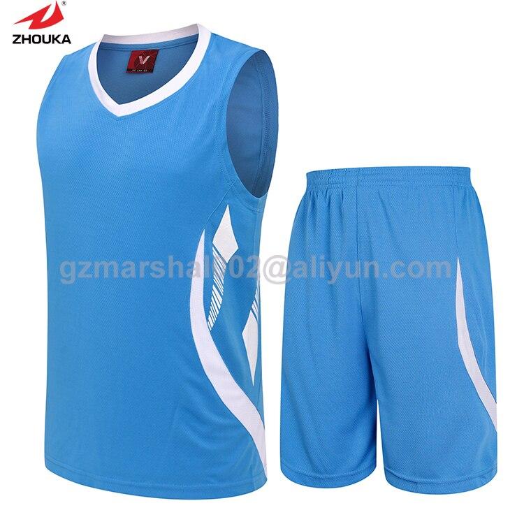 Blank basketball jersey,100% original design basketball training suit