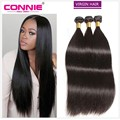7A Brazilian Virgin Hair Straight 3 Bundles Brazilian Straight Hair Connie Human Hair Weave Brazilian Hair Weave Bundles