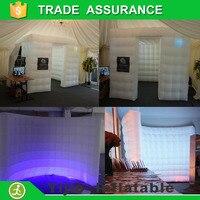 portable 2pcs inflatable wall photo booth led backdrop