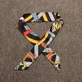 Contrast Stripe Skinny Scarf Womens Satin Scarves Bandanas Headwear sciarpe donna Bufandas Hot