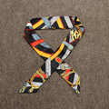 Contraste de La Raya Flaco Bufanda Para Mujer Bufandas Del Satén Bandanas Headwear sciarpe donna Bufandas Caliente