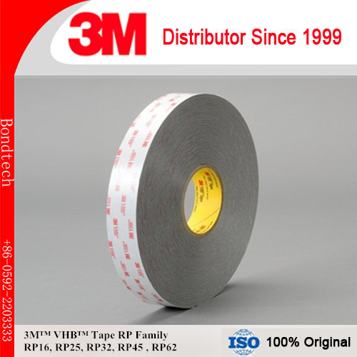3M RP45 VHB Double Sided Tape, Gray, 45mils Thick, 12.5mmX33M (Pack of 1) 3m vhb tape 4926 gray 45mil 1inx36yd pack of 1