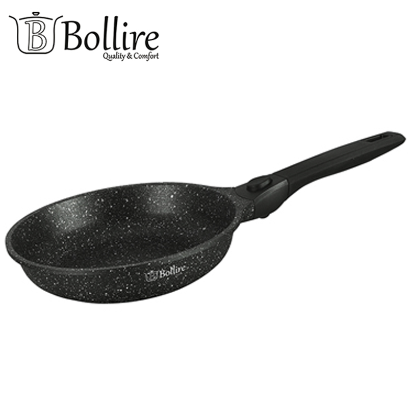 BR-1207 Pan Bollire VERONA Suitable for all hobs, including induction FULL INDUCTION BOTTOM Removable handle Suitable for oven br 1010 pan deep frying bollire full induction bottom non stick layer frying pan high quality flat bottom cookware