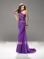 обычный заказ желтый одно плечо вышивка beer prom платье 100% dover дизайн официальный платья вечернее