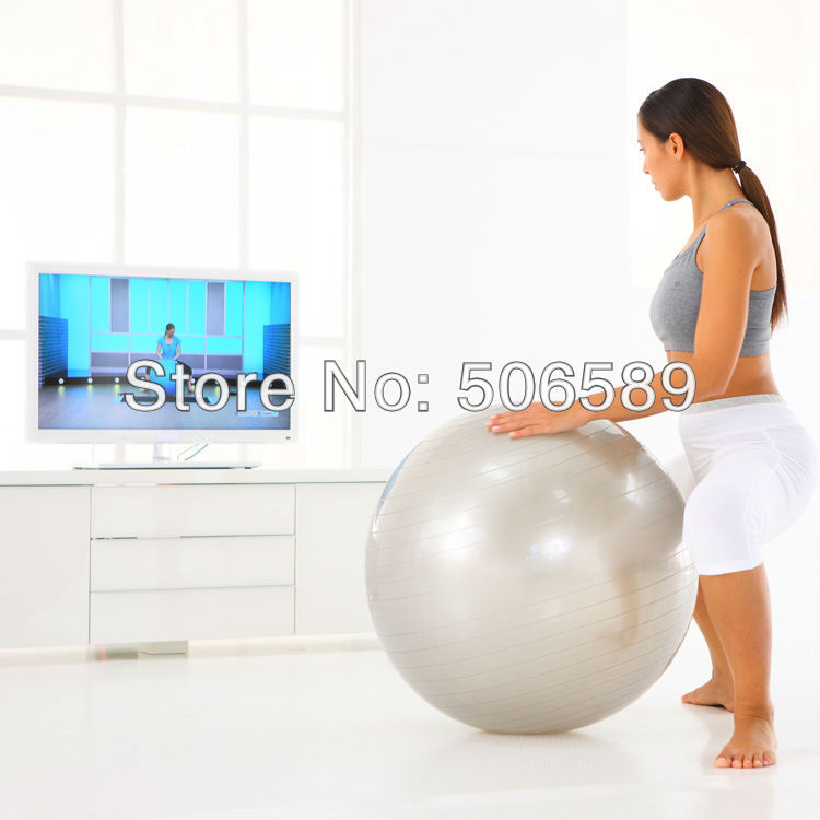 Йога мяч фитнес бодибилдинг 3 размера с воздушным насосом