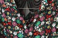 новый arrrival женские женские дамы высокая мода красивая одна часть цветочный принт платья лето осень sfad071