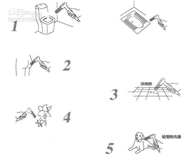 2012 Лучшие унитазы биде, одна ручка, хромированный ручной распылитель головы A2005