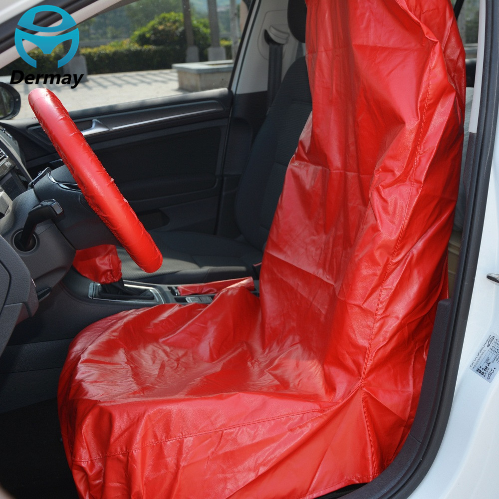 5PCS AUTO REPAIR SERVICE CAR SEAT PROTECTOR COVERS Washable PU LEATHER 4S Shop Car Accessories font