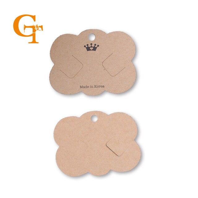 nice brown kraft paper jewelry price tags cute special flower shape
