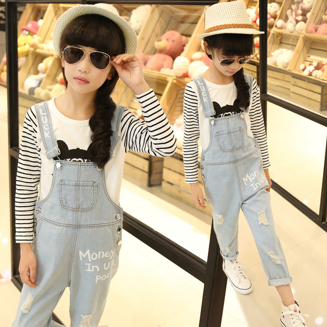 a0233db27030 4 13 rompers jeans spring 2016 kids clothes denim trousers top ...
