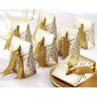 100pcs Pack Gold Wedding Candy Boxes Casamento Wedding Favors Gifts BoxesEvent Party Supplies