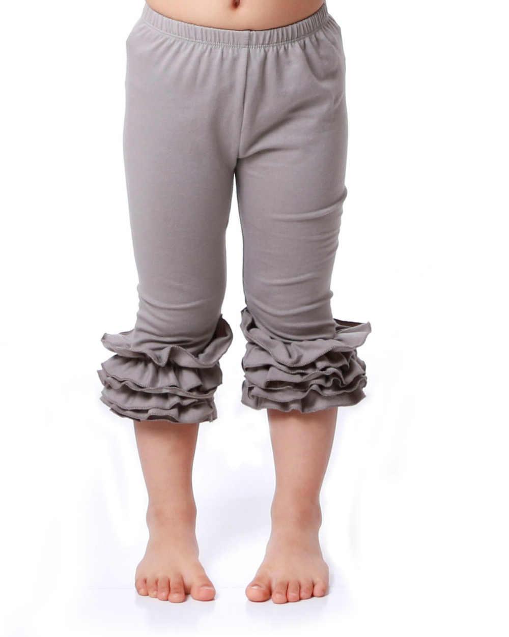 5551d45dfdfb9 ... Hot Sale Girls Capri Leggings Ruffle Pants Toddler Girl Clothing Posh  Cotton Pants Girl Ruffles Leggings ...