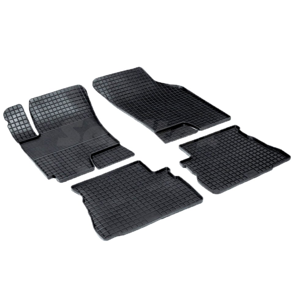 Rubber grid floor mats for Hyundai Getz 2002 2004 2005 2007 2008 2009 Seintex 00320 rubber floor mats for chevrolet niva 2002 2004 2006 2008 2009 seintex 84834