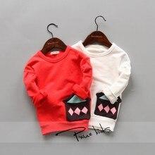 Children's clothing cotton print o-neck girls sweatshirt baby boy sweatshirt NEW Autumn spring kids clothes moleton 3 color tops