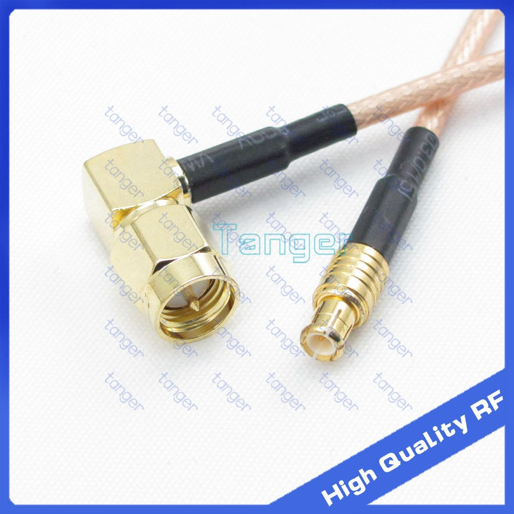 """6/"""" RG316 MCX Male RIGHT Angle to SMA Male plug RF Pigtail Jumper Cable USA"""