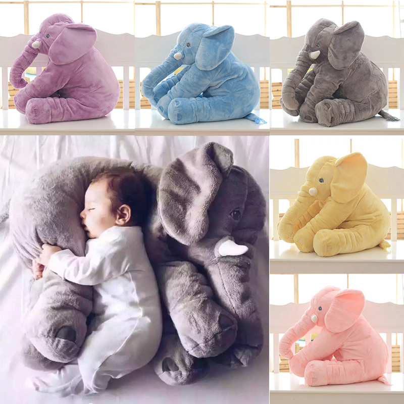 Baby Elephant Pillow Stuffed Animal Toy Childrens Bed Pillow For Pregnant Women Almohada Kid Sleep Elephant Baby Infant Pillow