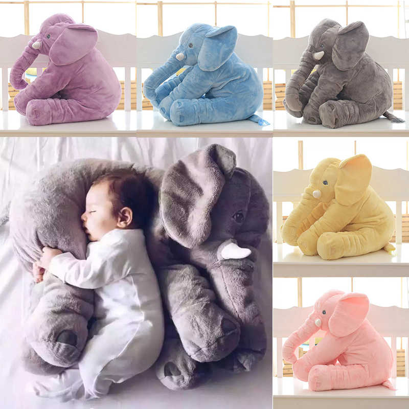 baby elephant pillow stuffed animal toy children s bed pillow for pregnant women almohada kid sleep elephant baby infant pillow