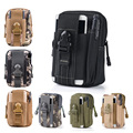 Universal Outdoor Sports Molle Hip Waist Belt Bag Wallet Purse Phone Case bags with Zipper for iphone 7 case LG Samsung Phone