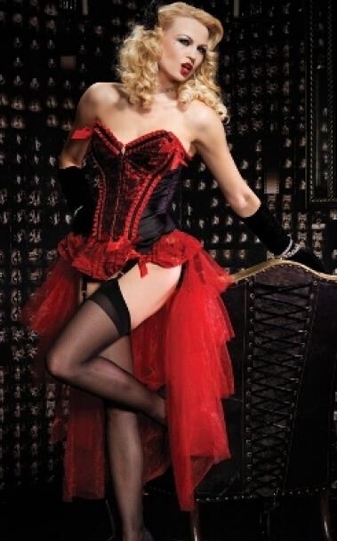 El Envío Gratuito! venta caliente de la nueva largo atractivo burlesque corset disfraz burlesque del corsé y tutu falda/falda del vestido de lujo traje