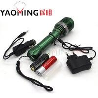 Protable linternas cree led high power latarka akumulator regulacją ostrości wodoodporna latarka lantern + 18650 akumulator + ładowarka