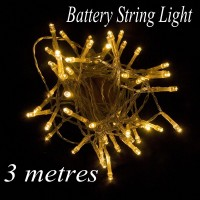3M 30 Led Battery Led String Light Battery Operated Fairy Party Wedding Christmas Flashing LED Strip