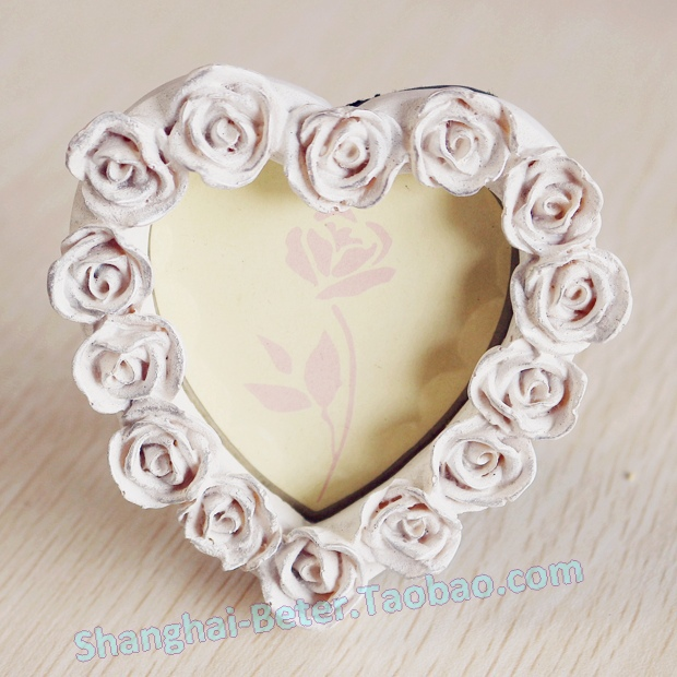 Free shipping 200pcs mini Heart Shaped Rose Pearl Photo Frame ...
