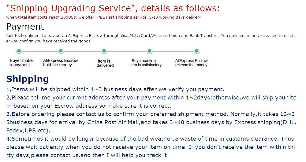 Payment & shipping 1