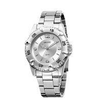 нью-стимпанк из нержавеющей стали мода мужские кварцевые аналоговые наручные часы хронограф украшения персонализированные синий указатель 3215