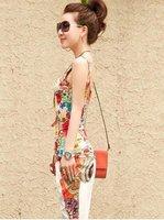 новый стиль женщин красочные цветы peat Seal Gel тонкий лето