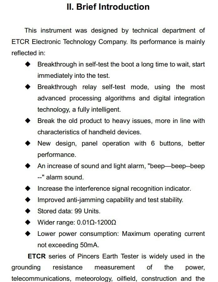ETCR2000C+ зажим на Измеритель сопротивления заземления
