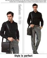 поступила новая мода мужская кожаная сумка, коричневый цвет мужские сумки на ремне 2017 высокое качество дизайн бренда деловая сумка