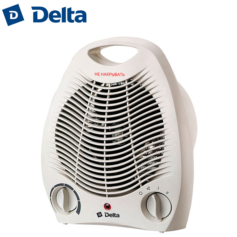 DL-802/1 Electric fan room heater, 2000W, air heating space warmer fans household heating device heat ventilation DELTA tourmaline electric heating therapy waist support jade stone heating belt for sale