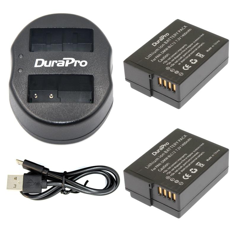 DMW-BLC12 BLC12PP BLC12E BLC12 2 Pack Battery+USB Dual Charger For Panasonic Lumix FZ1000,FZ200,FZ300,G5,G6,G7,GH2,DMC-GX8 dmw blc12 blc12e blc12pp blc12 batteries 3 pack usb dual charger for panasonic lumix fz1000 fz200 fz300 g5 g6 g7 gh2 dmc gx8