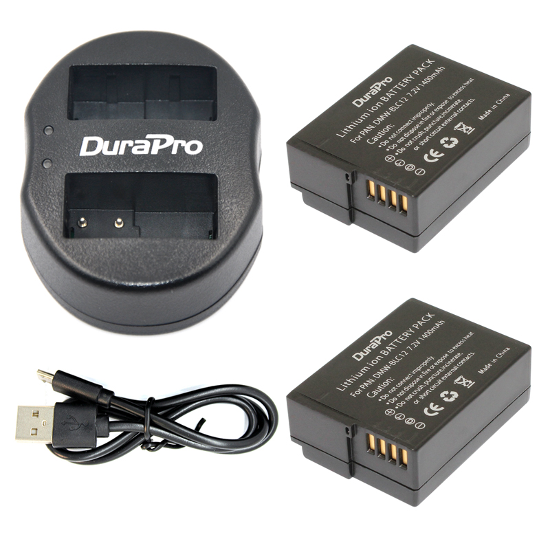DMW-BLC12 BLC12PP BLC12E BLC12 2 Paket Batterie + USB Dual Ladegerät Für...