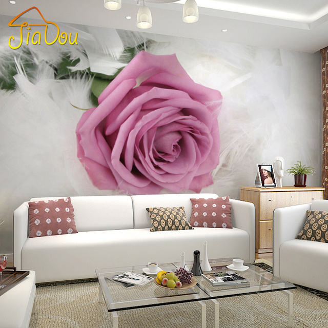 Custom Photo Wallpaper European Style Romantic Flower 3D Mural ...