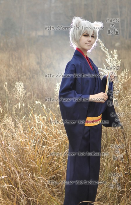 Anime Hajimemashita Love Tomoe Kimono Cosplay Costume Long Wig Send The Ear