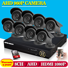 DAVHUA HOT,8CH AHD HD CCTV System 1.3MP CCTV Camera DVR Kit 960P 1080P HDMI Security Camera System Remote View seguranca em casa