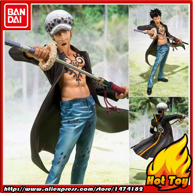 100% Original BANDAI Tamashii Nations Figuarts ZERO Action Figure - Trafalgar Law -Dressrosa Arc from ONE PIECE prettyangel genuine bandai tamashii nations s h figuarts exclusive injustice superman injustice ver action figure