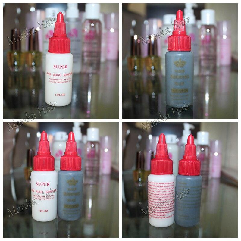 2 bottle 1oz - #Black Crown Anti Fungus Hair Bonding Glue Super Bond Hair Bond Weave Wig Extension Liquid hair Glue ...