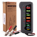 Universal 12V Digital Car Battery Tester Alternator Motorcycle Battery Tester Car-detector with 6 LED Lights Display